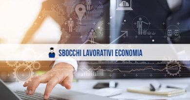 Sbocchi lavorativi economia