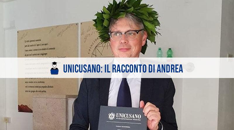 Opinioni Unicusano Economia Andrea